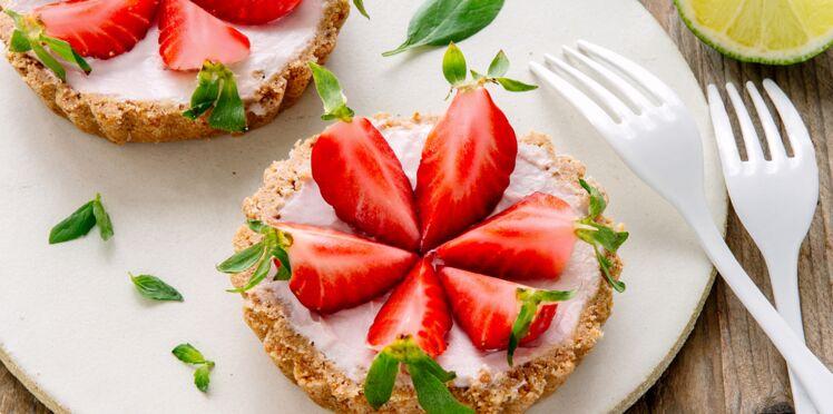 Tartelettes sans cuisson aux fraises