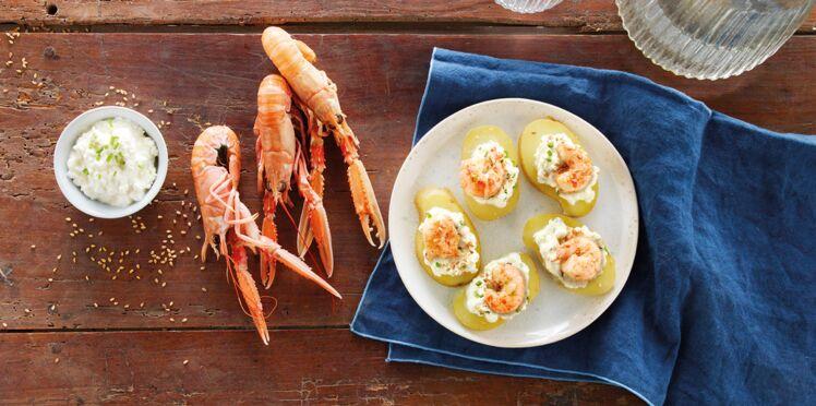 Finger de pommes de terre primeur de Noirmoutier et queue de langoustine