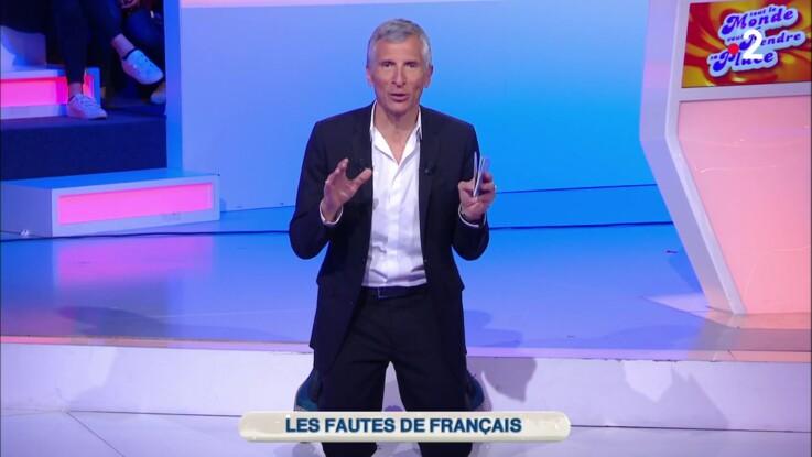 VIDEO - Nagui, hors de lui, supplie à genoux de ne plus faire cette faute de français