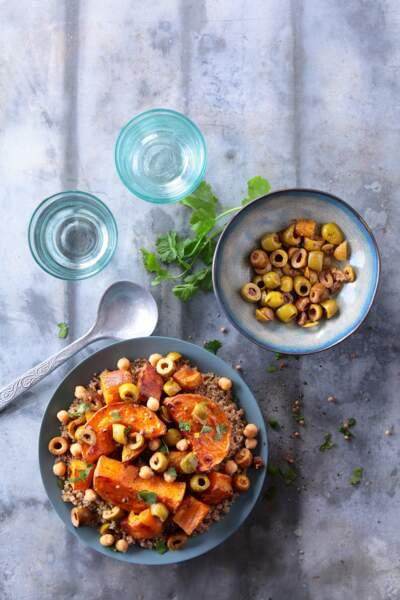 Couscous au quinoa et aux olives