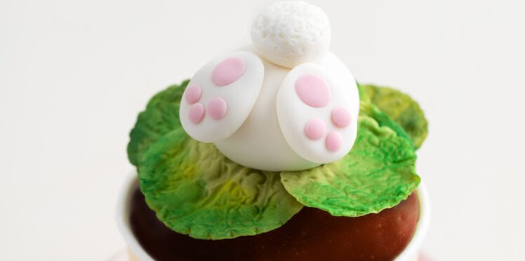 """Cupcakes """"Suivez le lapin"""" au chocolat"""