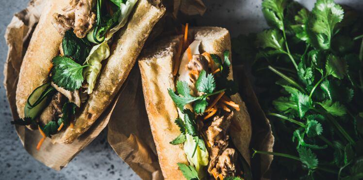 Sandwich au lapin façon Banh mi