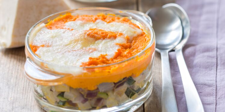 Parmentier reblochon-légumes en mini-cocottes