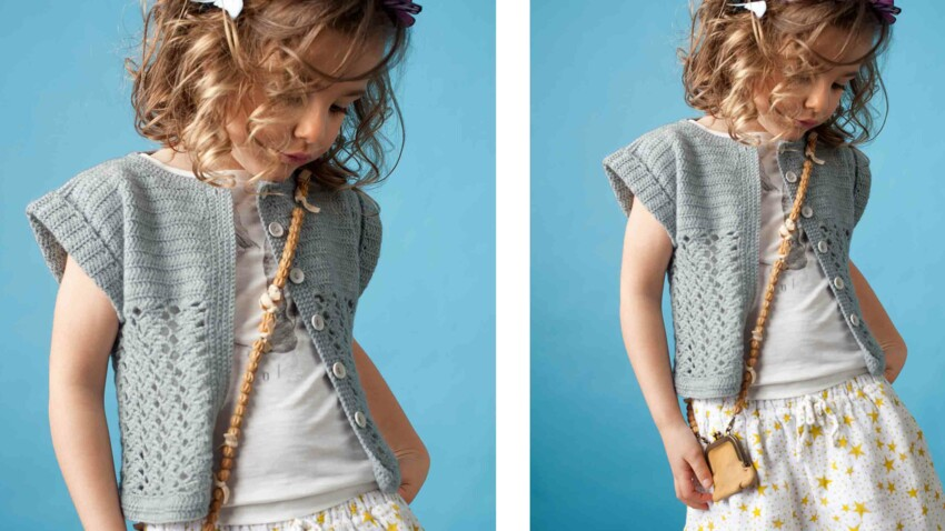 Crochet gratuit : le gilet au point d'éventails