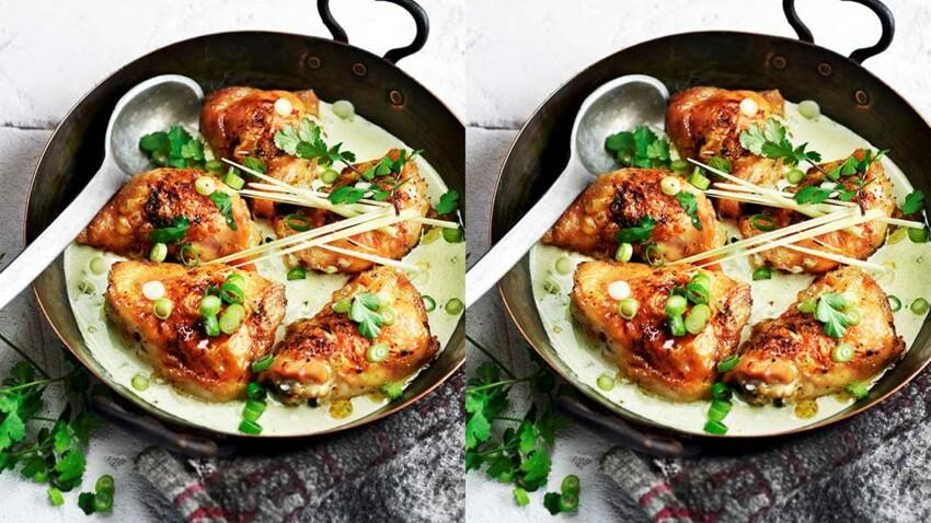 Poulet frit, sauce coco citronnelle