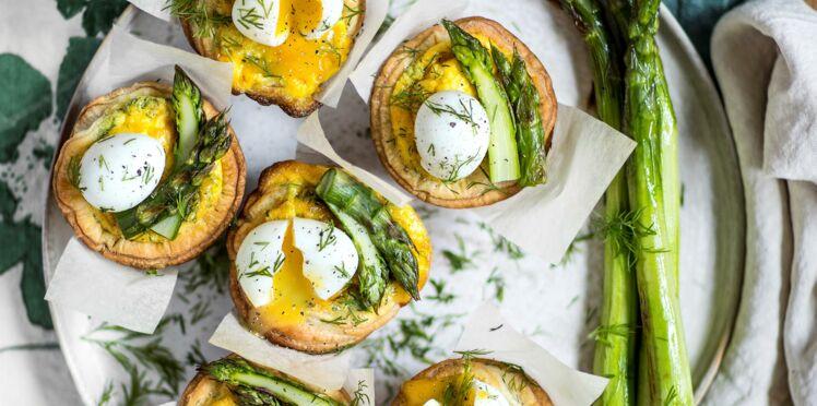 Tartelettes aux asperges et œufs de caille