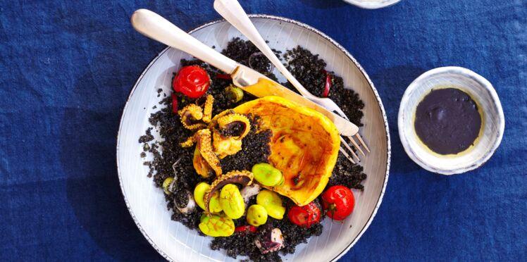 Couscous noir à la seiche