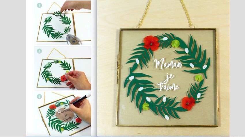 Tuto fête des mères : un cadre en papier découpé
