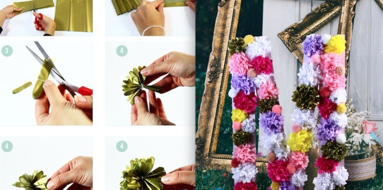 Pompons en papier de soie, comment les réussir