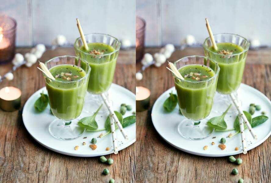 Green smoothie aux pousses d'épinards