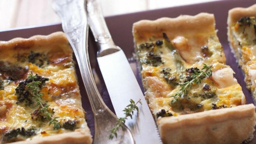 Tarte et quiche aux brocolis : 10 recettes pour un dîner vite prêt, bien fait