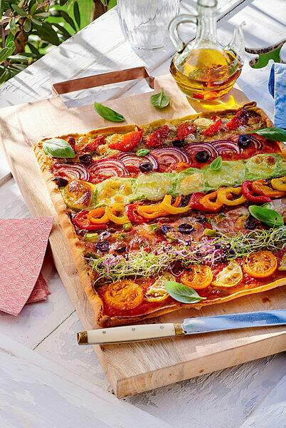 Pizza arlequin
