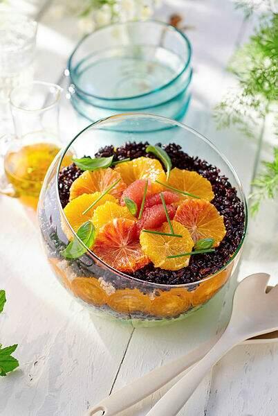 Salade d'orange et riz venere