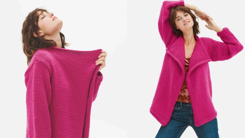 Tricot gratuit : la veste facile en jersey