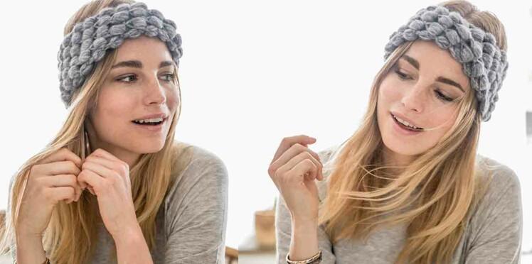 Crochet gratuit : le bandeau en point fantaisie