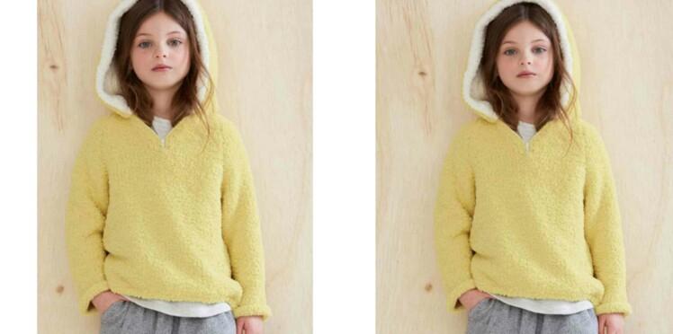 Tricot gratuit :  le pull à capuche