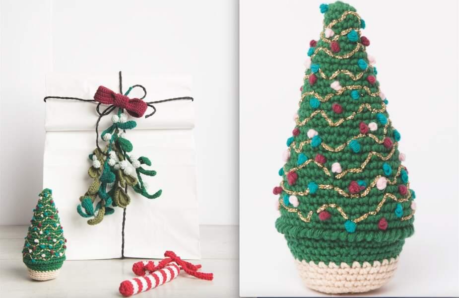 Tuto crochet Noël : un mini sapin