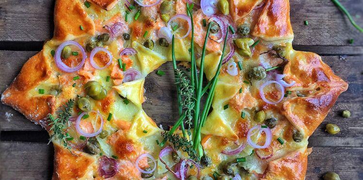 Pizza étoile au saumon