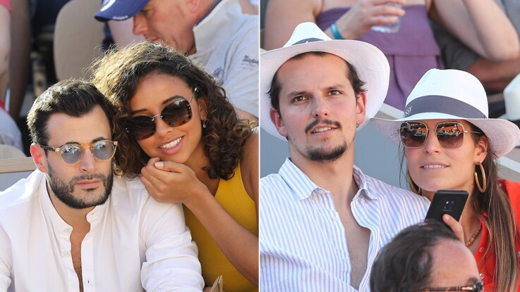 Photos - Flora Coquerel et Laury Thilleman : les ex-miss France s'affichent dans les tribunes de Roland-Garros avec leur amoureux