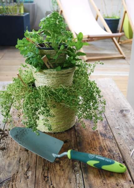 Tuto : réalisez une jardinière originale pour vos plantes aromatiques