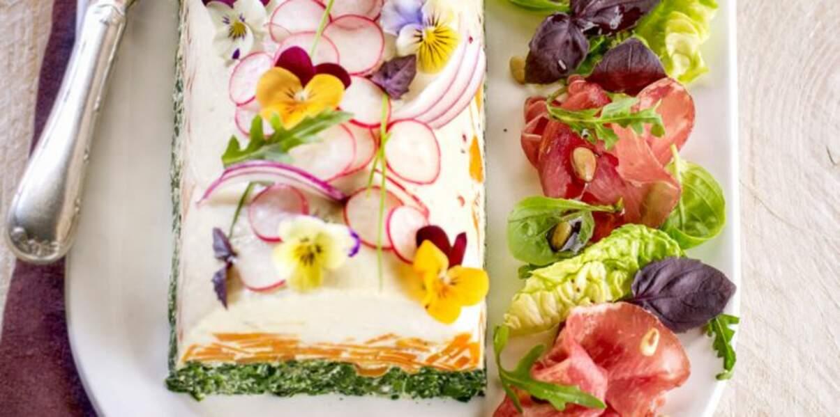 Bûche aux 3 légumes & mesclun à l'italienne