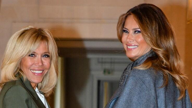 Total look blanc ou noir, Brigitte Macron et Melania Trump rivalisent d'élégance en Normandie