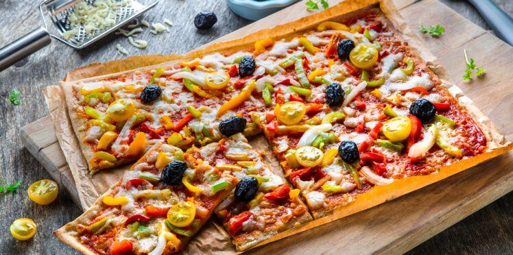 Pizza végétale poivrons et tomates