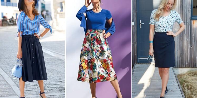 275f7ee53f4318 Jupes : quels modèles privilégier après 50 ans ? : Femme Actuelle Le MAG