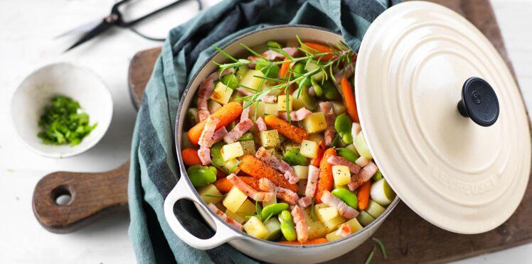 Mijoté de légumes aux lardons