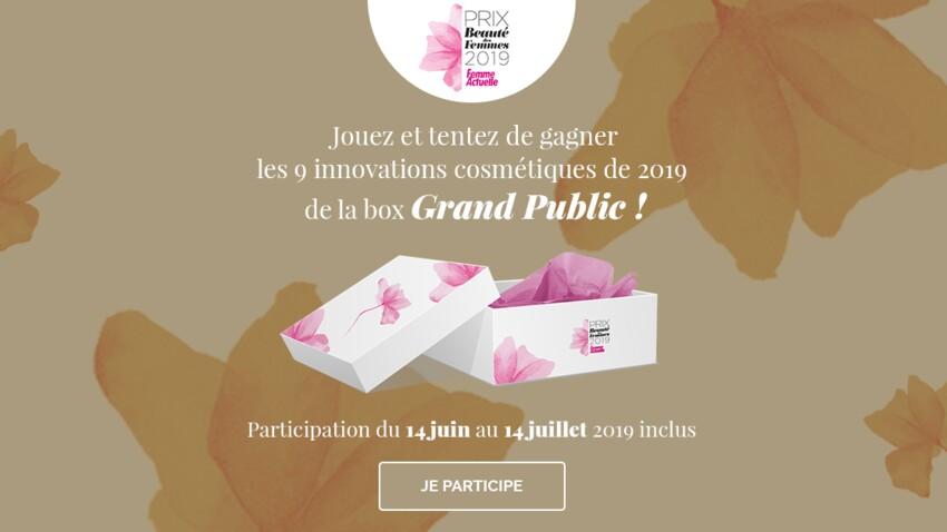 Jeu concours Prix de la Beauté 2019 : gagnez votre box de cosmétiques Grand Public