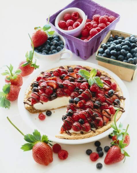 Cheesecake aux fruits rouges et chocolat