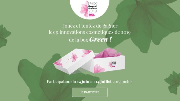 Jeu concours Prix de la Beauté 2019 : gagnez votre box de cosmétiques Green