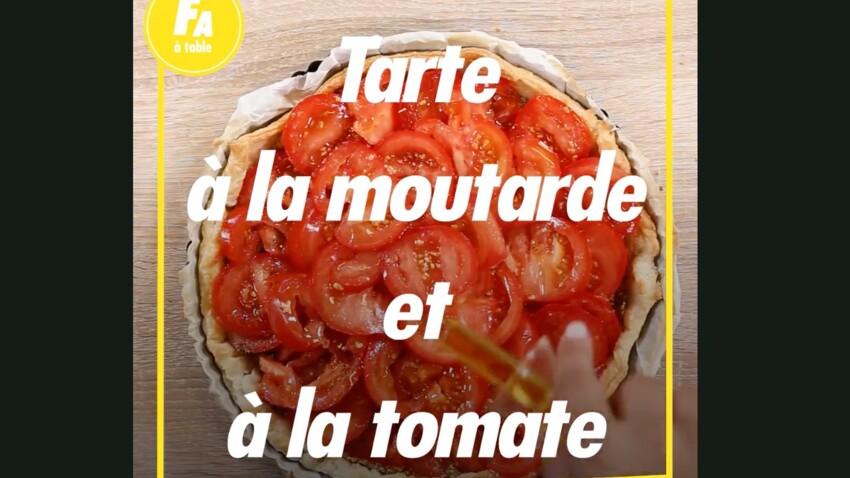 La recette super facile de la tarte tomate-moutarde