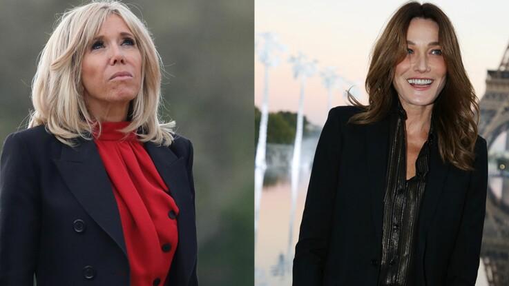 Photos - Brigitte Macron et Carla Bruni : duel chic de première dame pour l'hommage à Karl Lagerfeld