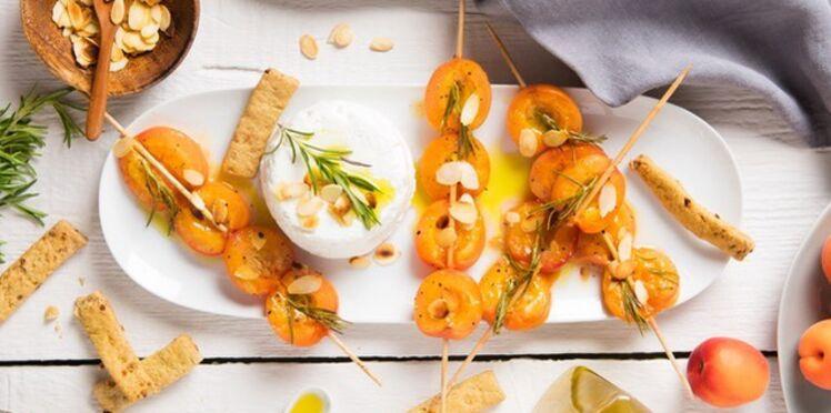 Abricots rôtis & fromage de chèvre frais