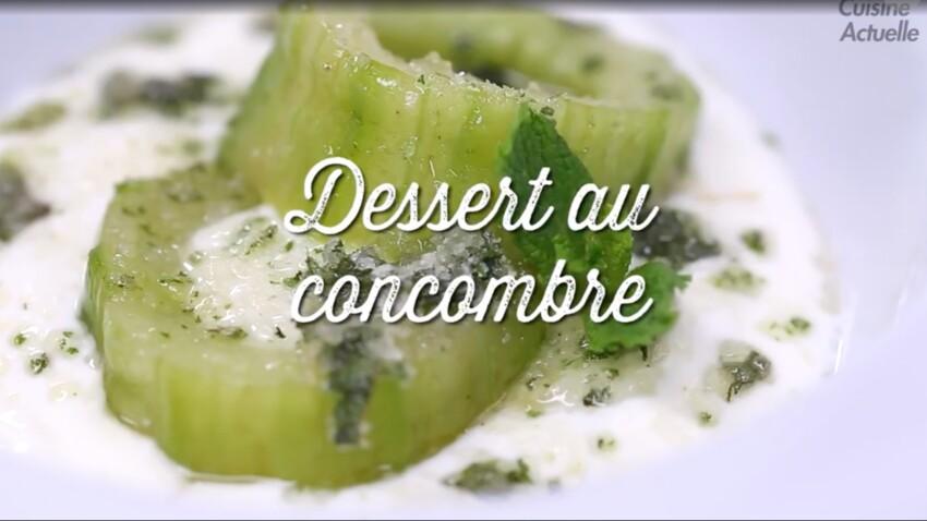 Canicule : la recette du concombre à la menthe en dessert !