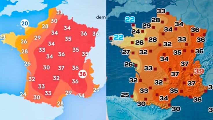 Canicule : pourquoi la météo annoncée par France 2 et par TF1 n'est-elle pas la même ?