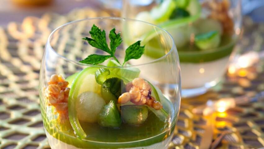 8 recettes de verrines de concombre pour apéros d'été