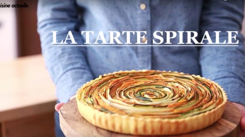 Tarte spirale courgette carotte : la recette facile et originale en vidéo