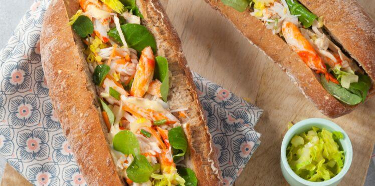 Sandwich au tourteau breton