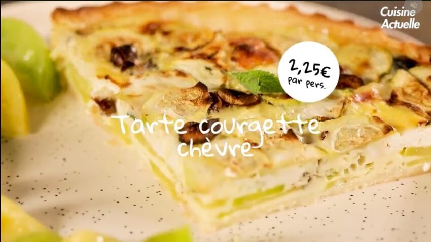Tarte courgette-chèvre, la recette super facile en vidéo