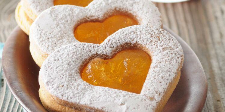 Coeurs sablés aux abricots