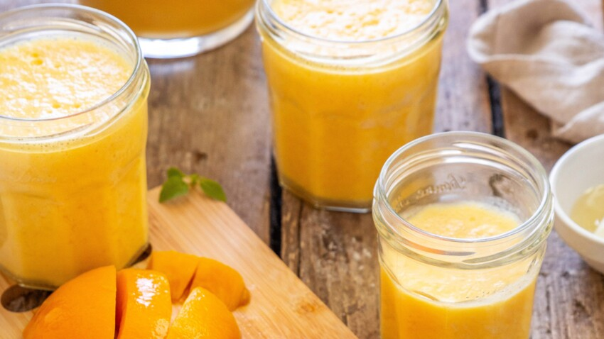 Smoothie aux pêches