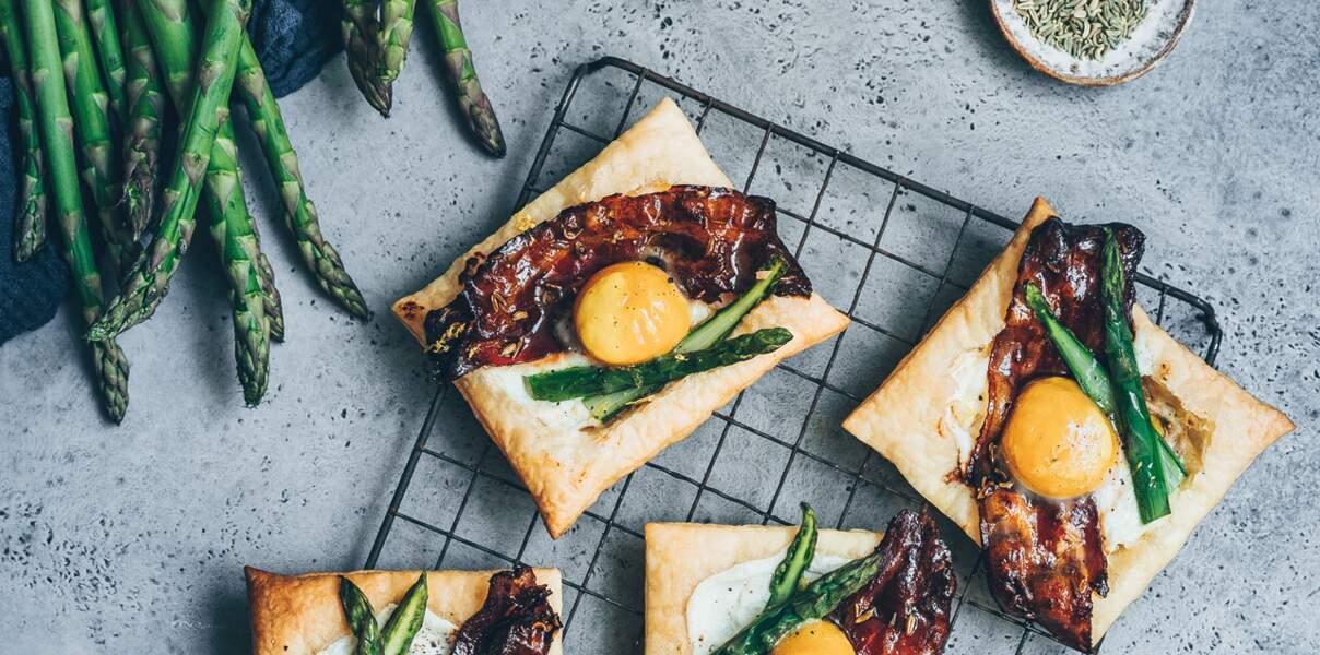 Tartelette aux asperges et bacon au sirop d'érable