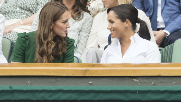 Photos-Meghan Markle et Kate Middleton très complices à Wimbledon