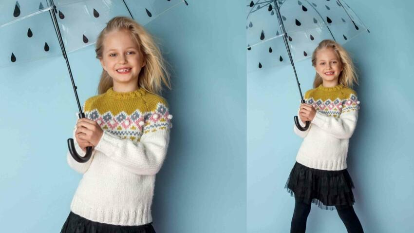 Tricot gratuit : le pull jacquard norvégien
