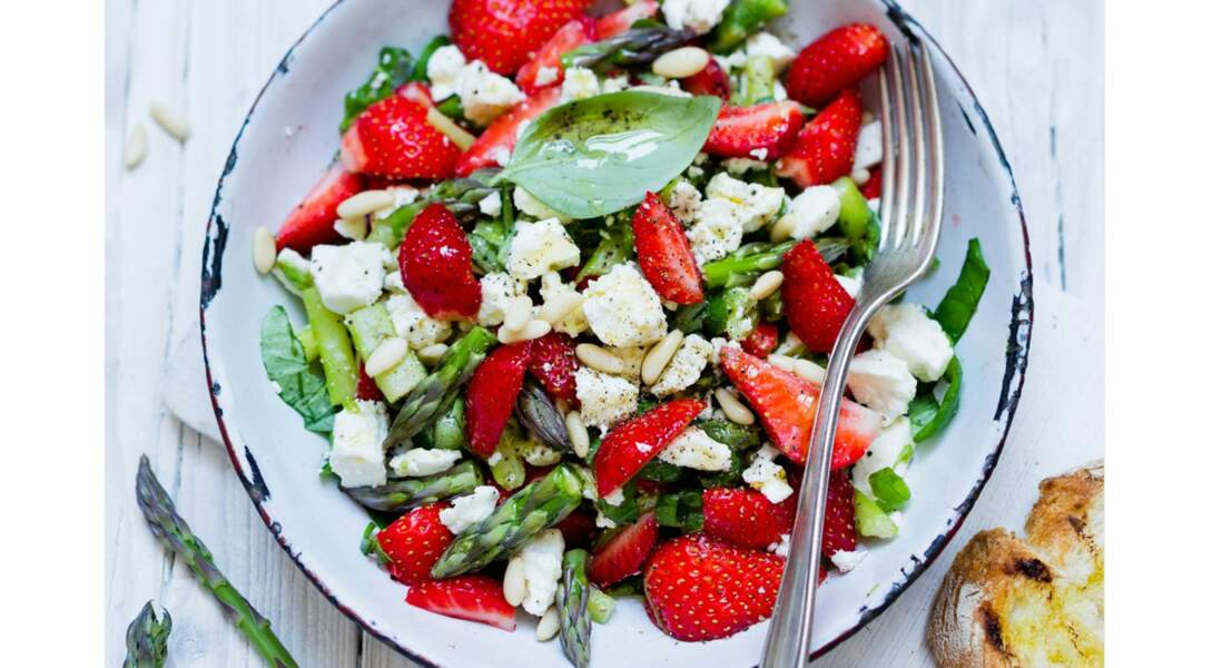 Salade de fraises en sucré-salé