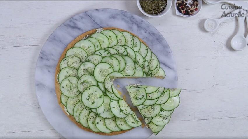 Une tarte au concombre fraîche et super facile pour l'été