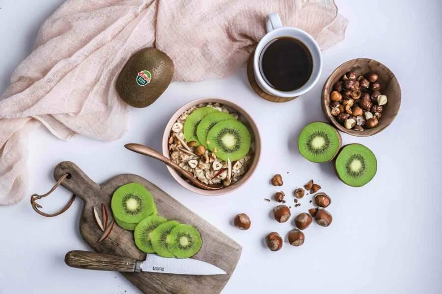 Porridge au kiwi