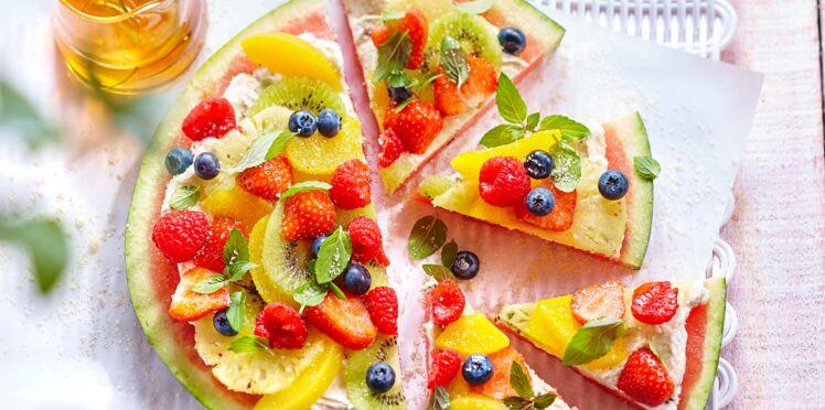 Pastèque tarte aux fruits